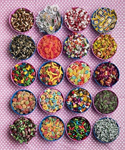 Candy bar Cupcakes La Asturiana - Mesa Dulce con 6 Kilos de Diferentes Golosinas y 2 Cajas con malvaviscos - Fácil de Montar y Reutilizable - Para eventos ...