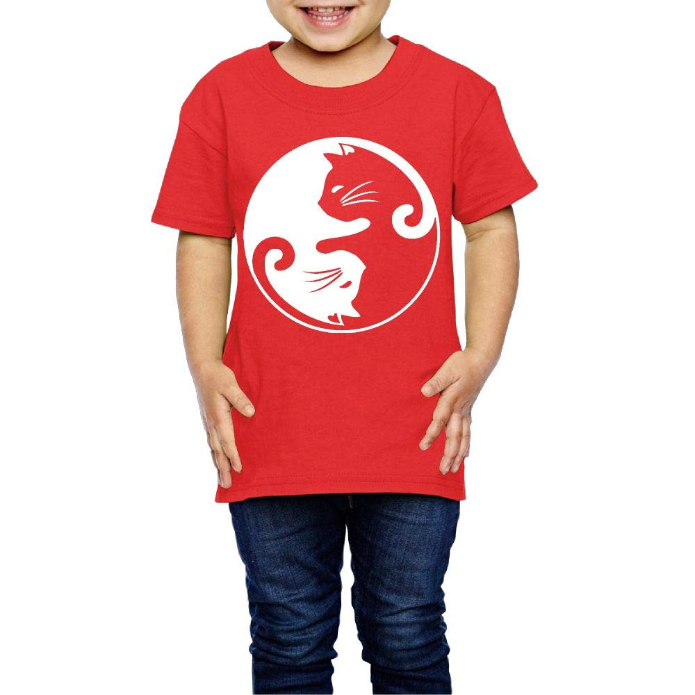 Cat Ying Yang 2-6 Years Old Children Short Sleeve T Shirts