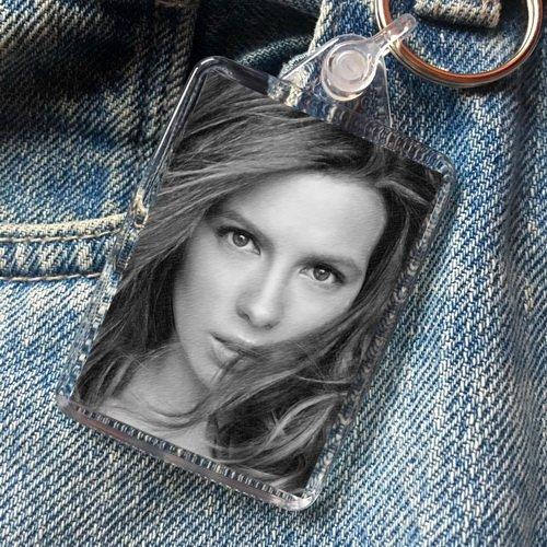 Kate Beckinsale - Original Art Keyring #js001