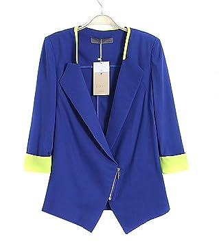 Amazon.com: Elegante Womens OL/Casual Suit Blazer perchero ...