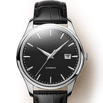 North King Relojes de Cuarzo para Impermeable de Hombre con Correa de Cuero clásico, Pulsera Reloj para Amigos y Familiares: Amazon.es: Jardín