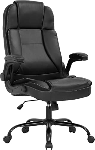 Office Chair Ergonomic Desk Chair PU Leather Computer Chair