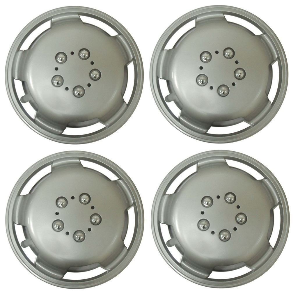 UKB4C Set of 4 15 Inch Extra Deep Dish Van Wheel Trims Hub Caps For VW Transporter T4