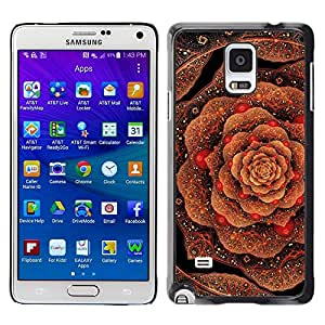 Plastic Shell Protective Case Cover || Samsung Galaxy Note 4 SM-N910 || Pattern Copper Bling Gold @XPTECH
