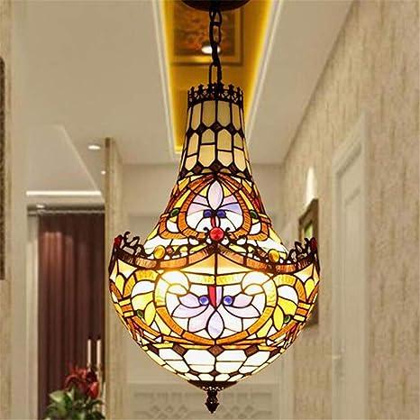Vintage Globe Ceiling Light Pendant Lamp Shade Mosaic Glass Hanging Lights Party Decor
