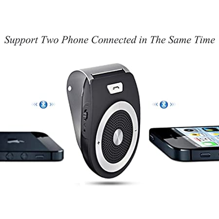 PRO6 YETOR NA Bluetooth Handsfree,Speakphone Motion AUTO-ON Stereo Music Speaker Wireless Sun Visor for Phone//GPS//Tablet and All Bluetooth Devices.