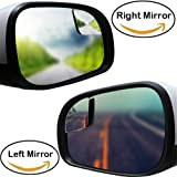 eSUN Blind Spot Mirror For Car Truck, Fan Shape Frameless 2'' Small Blindspot Mirror Convex Mirrors,1 Pair (Right & Left, Big Rear Mirrors Are Not Included)