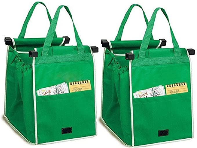 Trolley Bag Portable Multi-Function Oxford Folable Tote Bag Shopping Reusable Grocery Bags Leobtain Grocery Bags Foldable Trolley Bag