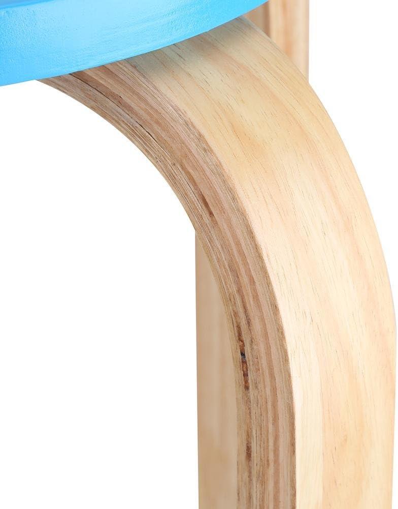 Zoternen Sgabello in legno curvo per la cucina e il soggiorno 45,5 x 30 cm rosa. colore dolce