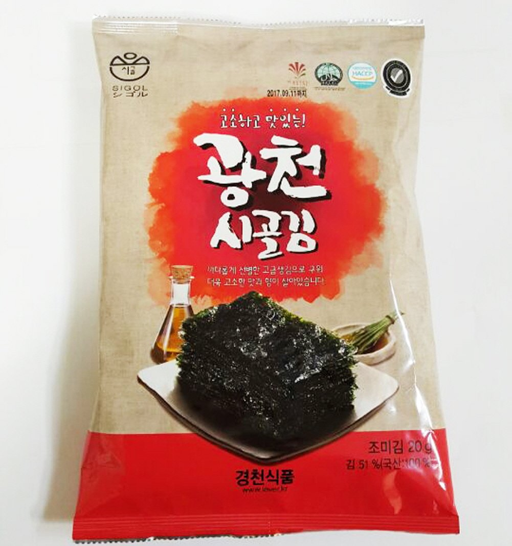 [Kyungcheon Food] SiGol Seaweed Premium Natural Roasted Seaweed Snack 20g 0.70oz(5sheet)-(Pack of 9)