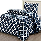 Utopia Bedding Printed Comforter Set (Twin/Twin XL, Navy) with 1 Pillow Sham - Luxurious Brushed Microfiber - Goose Down Alternative Comforter - Soft...