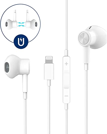 Amazon Com Headphones For Iphone I Pad Iphone 11 Headphones Wired In Ear Magnetic Earbuds With Mic Volume Control Iphone Xr Headphones Compatible With Iphone X Xs Xs Max Xr 8 8p 7 7p Ipad Pro Ipad Air Ipad Home Audio Theater
