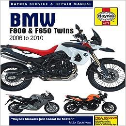 BMW F650, F700 & F800 Twins (06-16) Haynes Repair Manual ... on