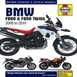 bmw f800 f650 twins 2006 to 2010 haynes service repair manual rh amazon com