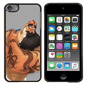 """Be-Star Único Patrón Plástico Duro Fundas Cover Cubre Hard Case Cover Para iPod Touch 6 ( Hombre del músculo de la barba larga del brazo del tatuaje de la tinta Arte"""" )"""