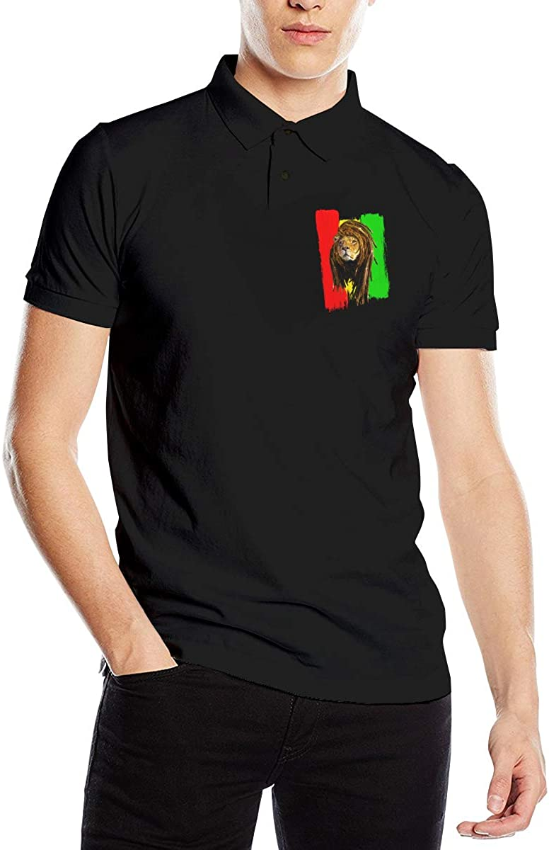 UP LUCK Rasta Lion Dreadlocks Hair Jamaica Flag Mens Premium ...