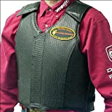SADDLE BARN BLACK ROUGH STOCK PRO RODEO PROTECTIVE VEST W/ LEATHER POCKET ADULT