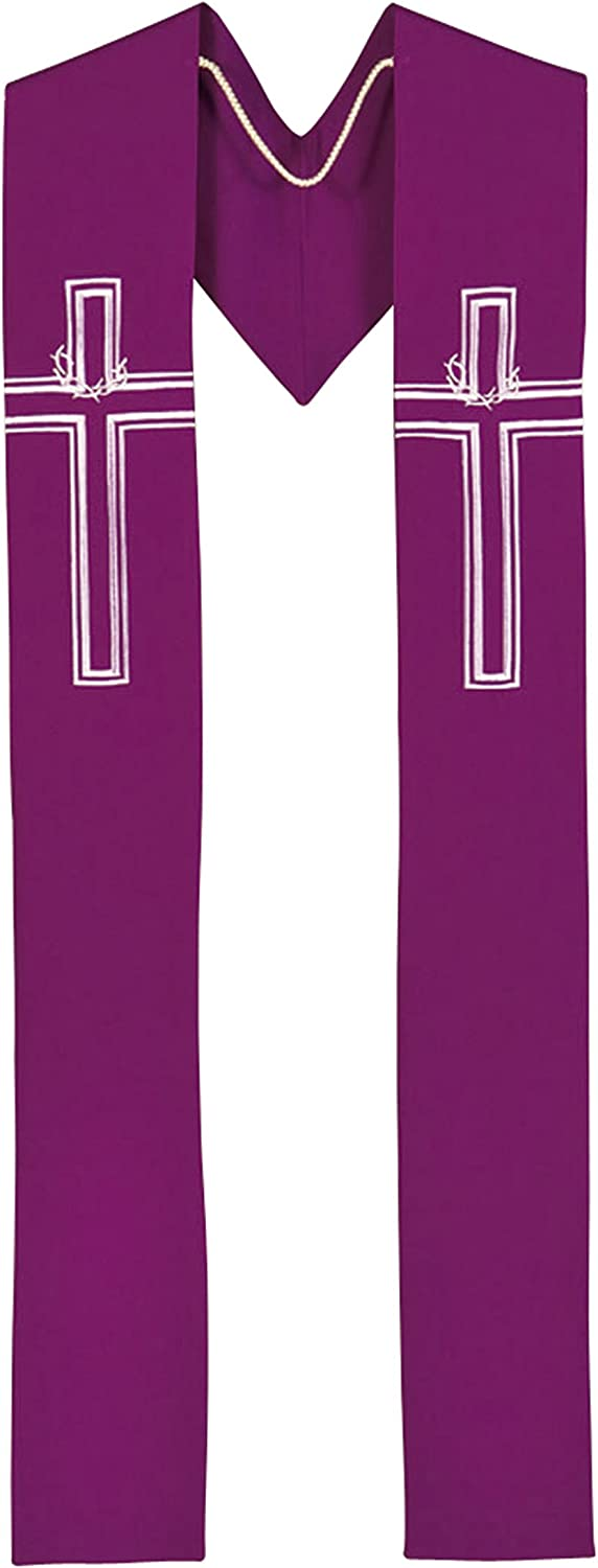 Faithful Gifts Crown of Thorns - Purple Clergy Stole: Toys & Games