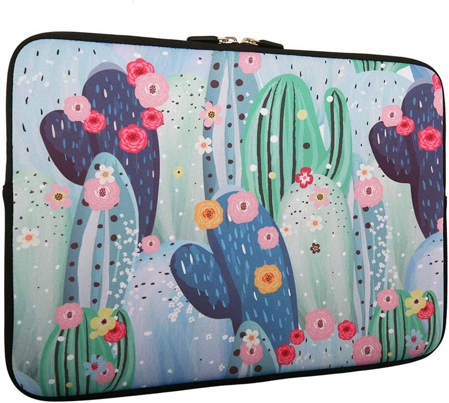 Cactus Laptop Sleeve Bag 15-15.6 Inch, Water Repellent Neoprene Light Weight Computer Skin Bag, Notebook Carrying Case Cover Bags for 15/15.4/16 Inch MacBook Pro, MacBook Air, Computer Sleeves