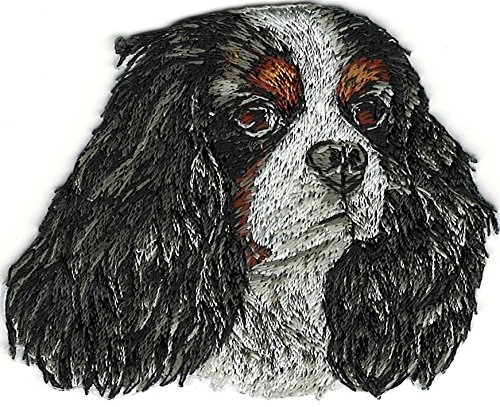 (Cavalier King Charles Spaniel Portrait Dog Breed Embroidery Patch)