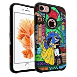 iPhone 7 Case, DURARMOR Beauty and the Beast Case Hybrid Bumper ShockProof Slim Fit Armor Air Cushion Defender Drop Protection Cover for iPhone 7 4.7', Beauty & the Beast