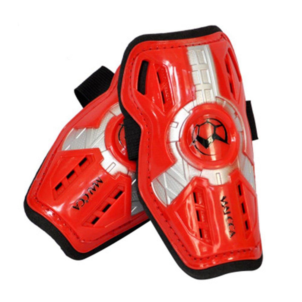 子Shinパッド脚プロテクターサッカーKids Professionalスケートシャンクスポーツ脚パッドサポートFootball Shin Guards B07BCCZ7LTレッド
