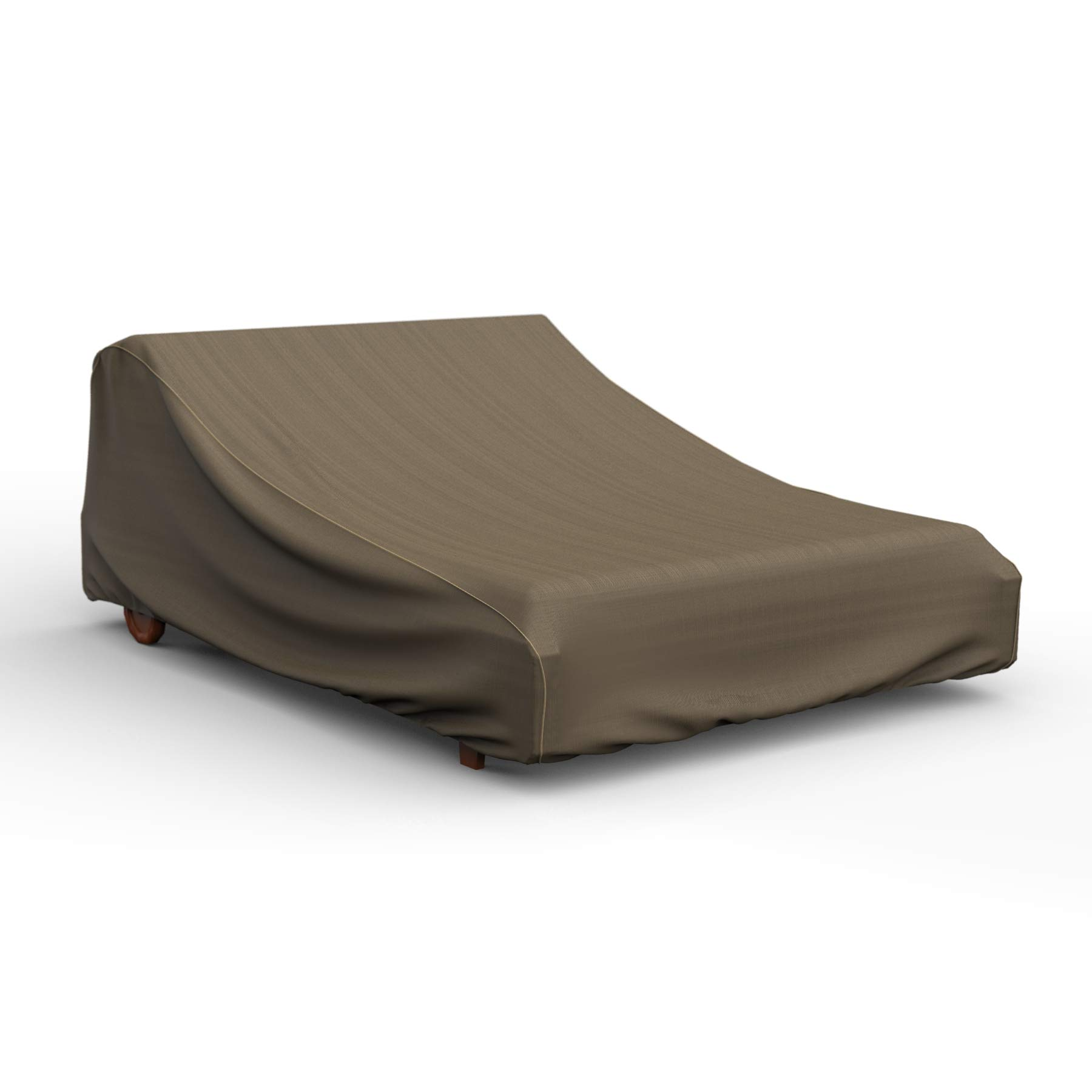 NeverWet Platinum Double Patio Chaise Lounge Cover, (Black and Tan Weave) by EmpireCovers (Image #10)