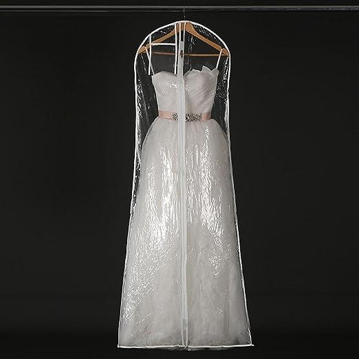 Bridal Gown Wedding Dress Storage Bag Dust Proof Garment Cover Black Color