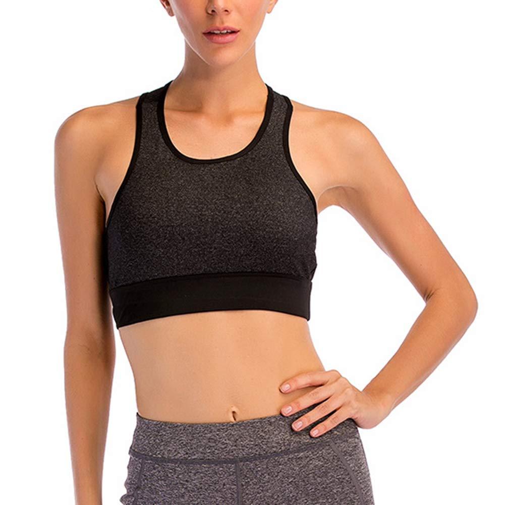 LDHY Damen-Sport-BH, Sportunterwäsche, Damenlauf, stoßfest, Fitness, Yoga, Sammeln, schnell trocknend, groß, Weste, kein Stahlring-BH, 2er-Pack