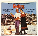 1980 Popeye Music from the Movie 45 Vinyl Record - Robin Williams