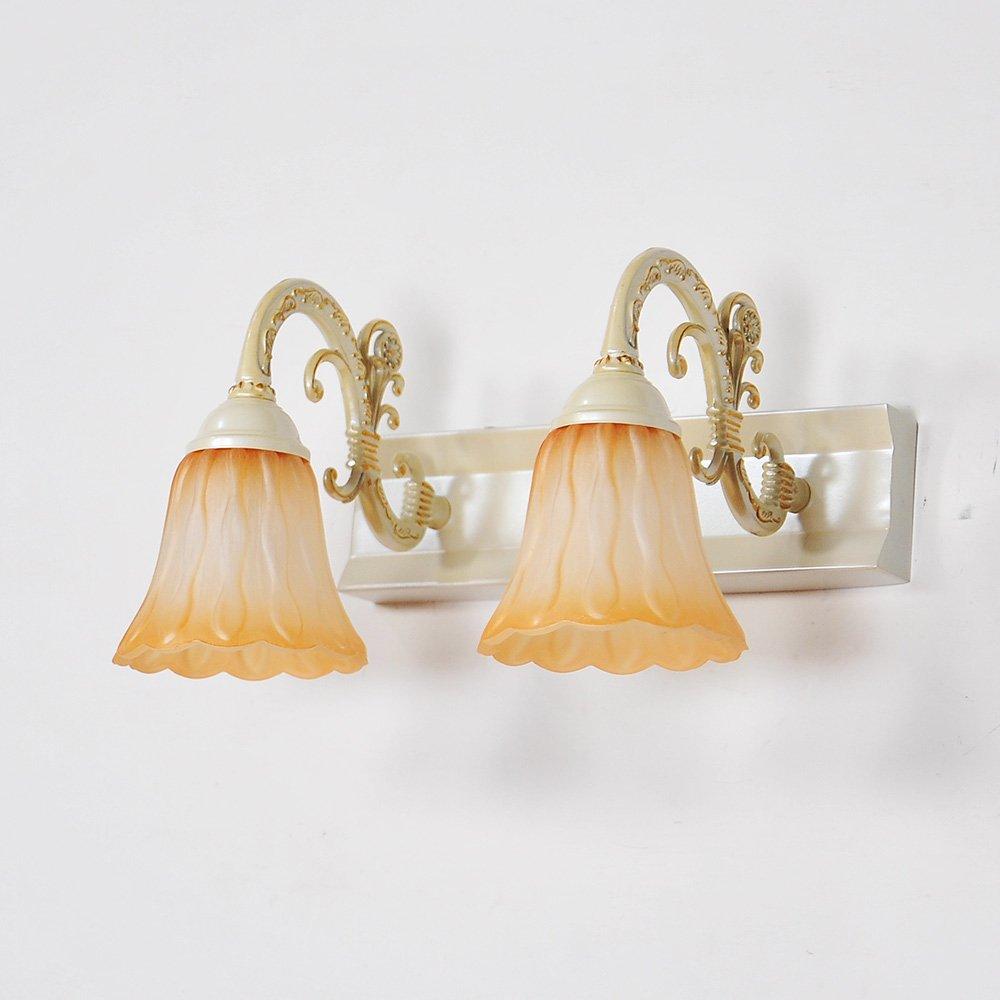 Cuisine & Maison TXD Haute qualit¨¦ lampes murales minimalistes miroir voyants imperm¨¦able ¨¤ l¡¯eau antibu¨¦e cuivre antique lumi¨¨res de miroir de salle de bains appliques antiques lampe miroir chambre