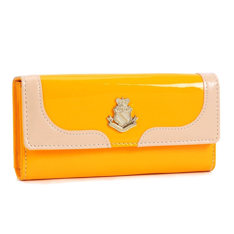 (ダマラ) Damara レディースウォレット防水性 PU 大容量 財布 ラージ クラッチ財布 B00JP6Z2G2イエロー