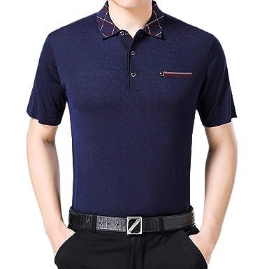 Camisa De Polo De Verano para Fit Informales Camisetas Hombre Slim ...