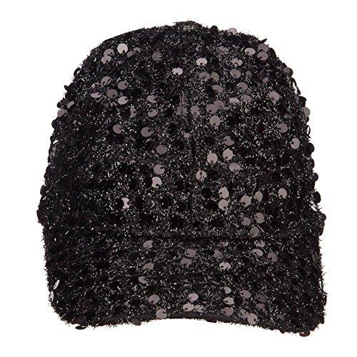 SS/Hat Women's Sequin Ball Cap - Black OSFM