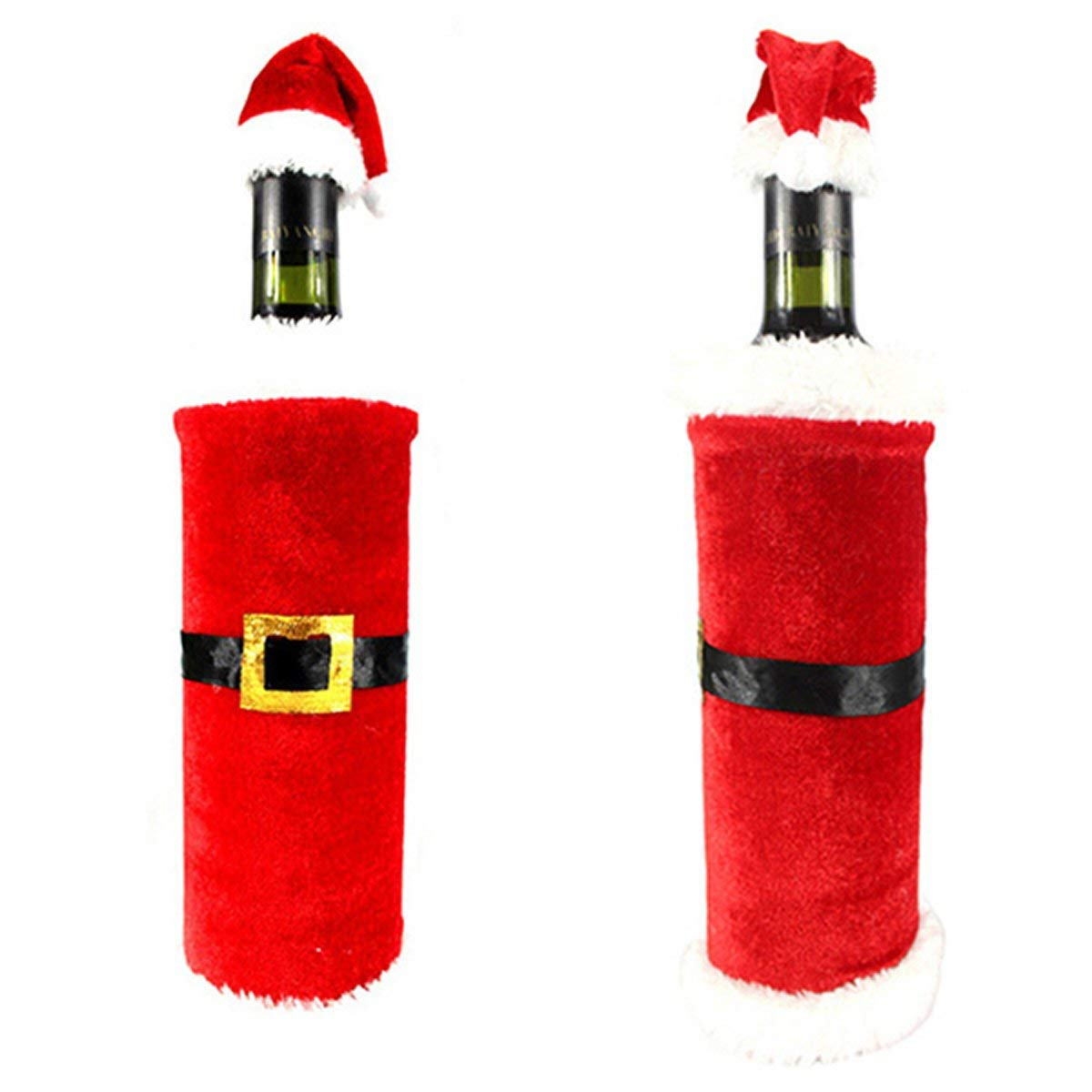 Xeminor Premium Santa Christmas Wine Bottle Cover Gift Wrap Christmas Party Decorations Home Wine Bottle Decor