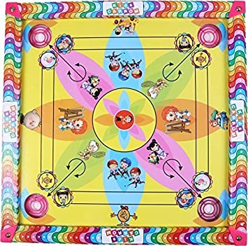 Jaykal Carrom Board with Ludo and Snake Ladder 3 in 1 Game, Carrom Board for Kids (26x26 Inches)