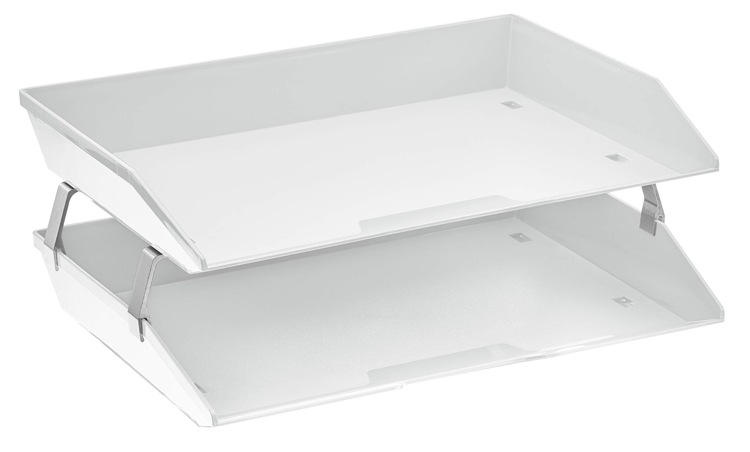 Acrimet Facility 2 Tiers Double Letter Tray (White Color)