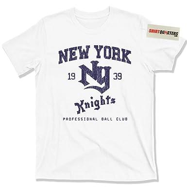 2c77a625b73 Amazon.com: NY Knights Baseball Roy Hobbs The Natural wonderboy Robert  Redford tee T Shirt: Clothing