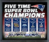 "New England Patriots Five Time Super Bowl Champions Photo (Size: 17"" x 21"") Framed"