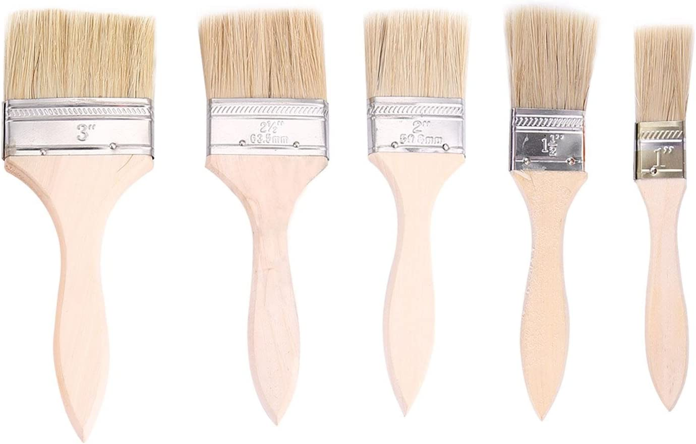 2,54 cm KOBWA Kit de brochas de Pintura Premium para Rodillo DE 8,7 Pulgadas 6,35 cm 2,54 cm 5,7 cm Mango de Madera Ligero 3,81 cm Pinceles de Pintura de 7,62 cm