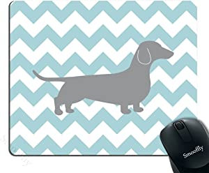 Smooffly Gaming Mouse Pad Custom,Dachshund Chevron Personality Desings Gaming Mouse Pad