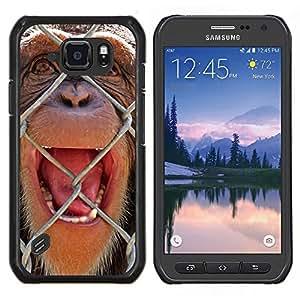 Stuss Case / Funda Carcasa protectora - El chimpancé - Samsung Galaxy S6 Active G890A