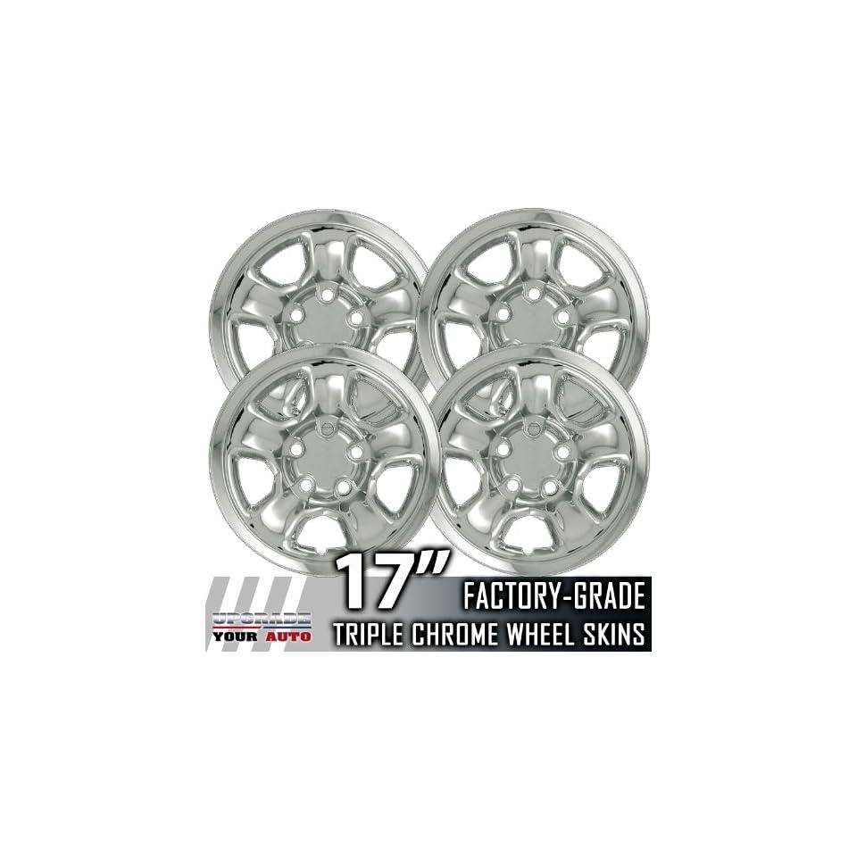 02 03 DODGE RAM 17 Chrome Wheel Skin Covers Automotive