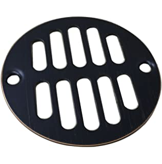 Designers Impressions 651729 Oil Rubbed Bronze Screw In Shower Drain  Strainer   3 3
