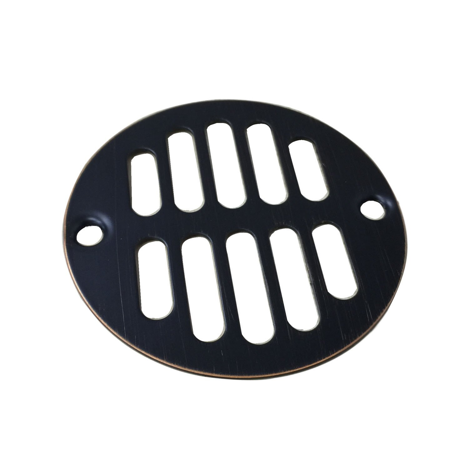 Designers Impressions 651729 Oil Rubbed Bronze Screw-In Shower Drain Strainer - 3-3/8'' Diameter