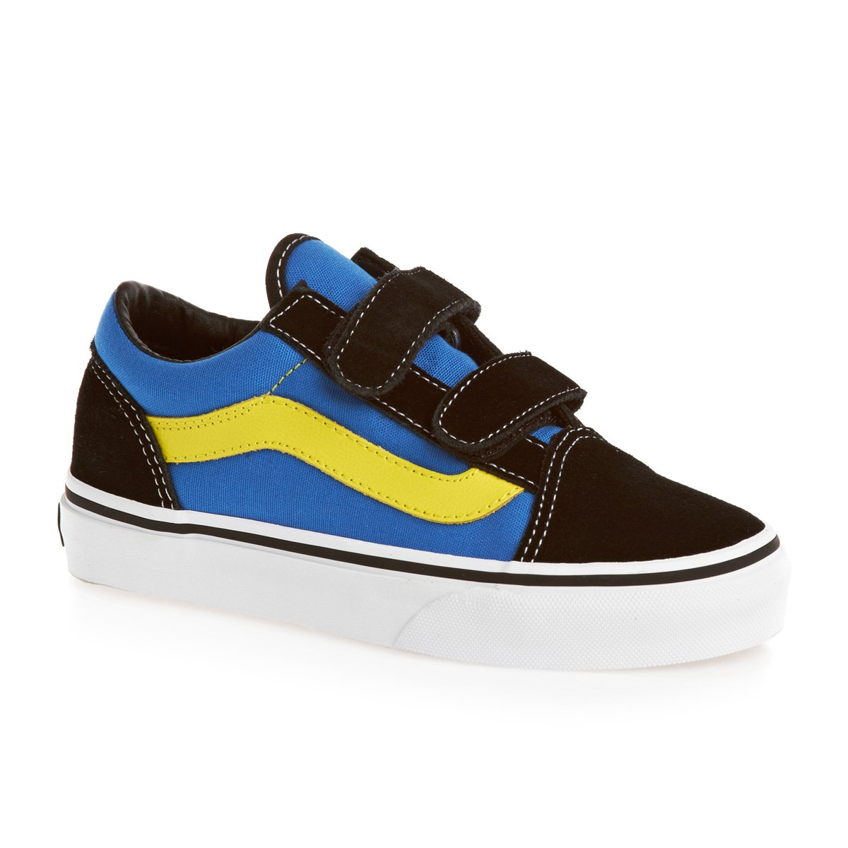 SPORTS SHOE BLACK VANS OLD SKOOL D3YBLK B00CEDUS6M 13.5 Child UK|Multicoloured (Black/Blue/Yellow) Multicoloured (Black/Blue/Yellow) 13.5 Child UK, GReeD d1c3774c
