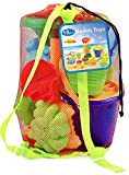 #6: Click N Play 18 Piece Beach sand Toy Set, Bucket, Shovels, Rakes, Sand Wheel, Watering Can, Molds,
