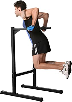 Ollieroo Dip Station Stand Heavy Duty Dip Stand Station Dip Bar Dip Bars Freestanding Dip Station Dipping Station Parallel Bar Bicep Triceps Home Gym