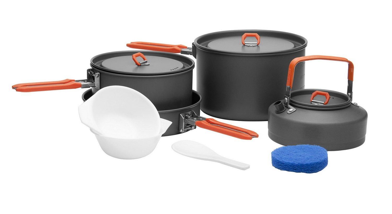 Kochgeschirr Kochtopf-Set für Camping Backpacking /& Picknick FEAST 1