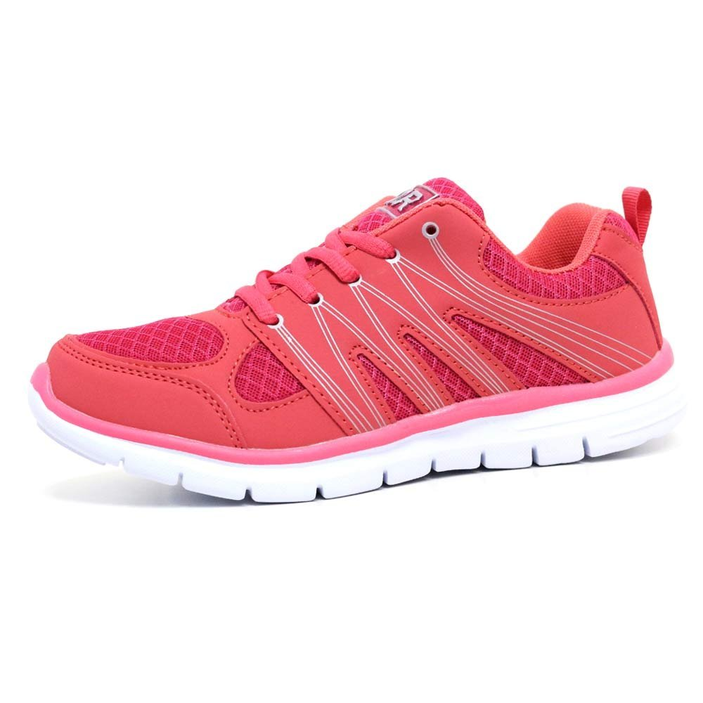 reputable site ad983 ca052 Ladies Running Trainers Air Tech Shock Absorbing Fitness Gym Sports Shoes  Size 4 - 8  Amazon.co.uk  Shoes   Bags